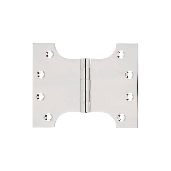Tradco Hinge Parliament Polished Nickel H100 x W125mm 2631
