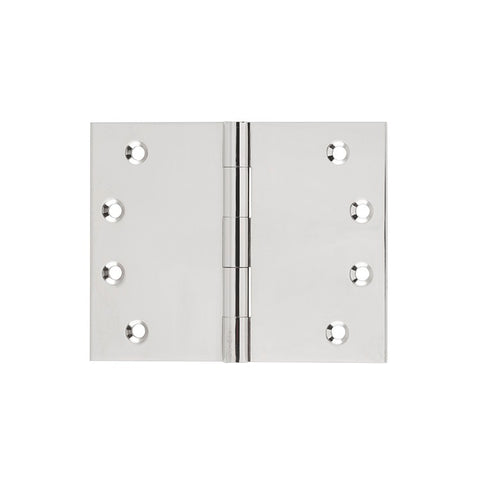 Tradco 'BROAD BUTT HINGE' Polished Nickel 100x125mm 2640