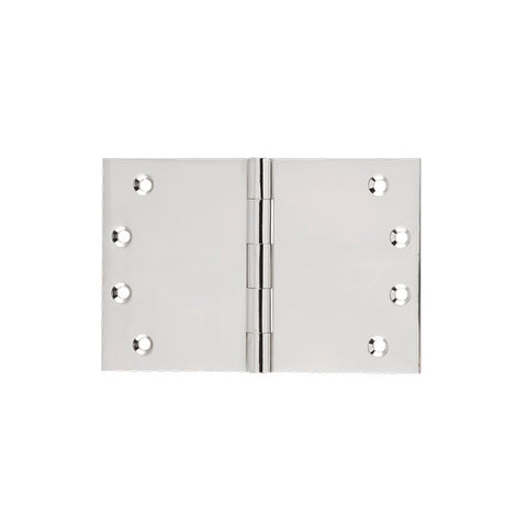 Tradco 'BROAD BUTT HINGE' Polished Nickel 100x150mm 2641