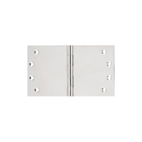 Tradco 'BROAD BUTT HINGE' Polished Nickel 100x175mm 2642
