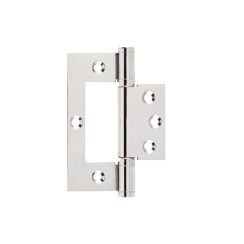 Tradco Hinge Hirline Polished Nickel H100 x W49mm 2647