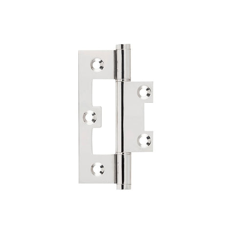 Tradco Hinge Hirline Polished Nickel H89 x W35mm 2648