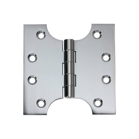 Tradco 'HINGE - PARLIAMENT' Chrome Plate 2680 100mm x 100mm