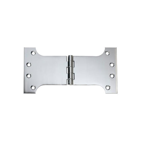 Tradco 'HINGE - PARLIAMENT' Chrome Plate 2684 100mm x 200mm