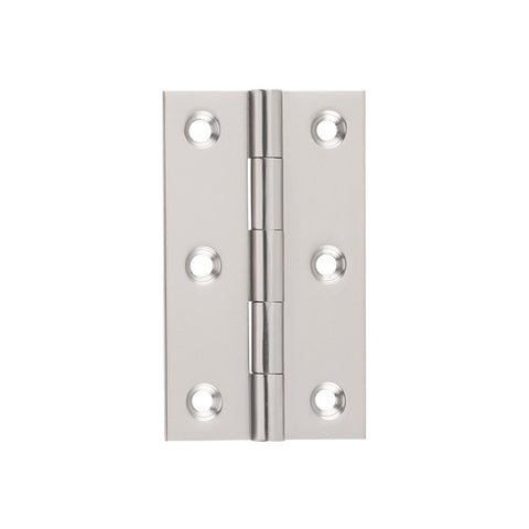 Tradco Hinge Fixed Pin Satin Nickel H89mm x W50mm 2720