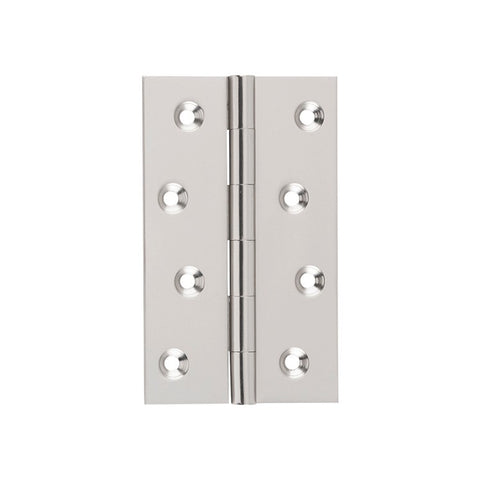 Tradco Hinge Fixed Pin Satin Nickel H100mm x W60mm 2722