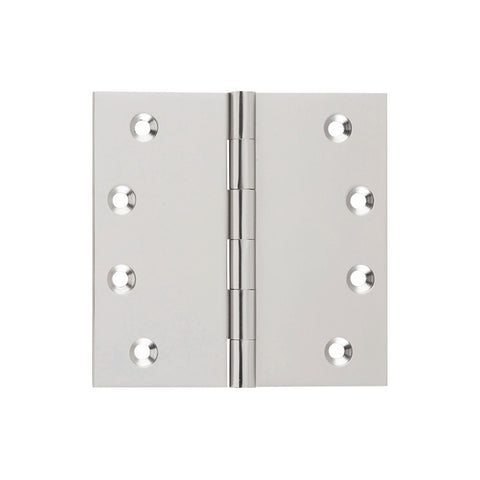 Tradco Hinge Fixed Pin Satin Nickel H100mm x W100mm 2724