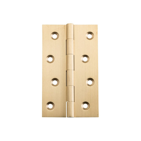 Tradco Hinge Fixed Pin Satin Brass H100mm x W60mm 2822