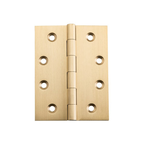 Tradco Hinge Fixed Pin Satin Brass H100mm x W75mm 2823