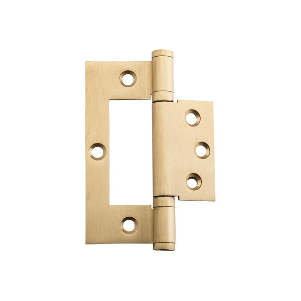 Tradco Hinge Hirline Satin Brass H100mm x W49mm 2847