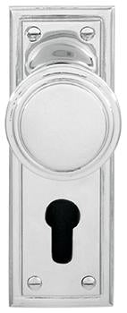 DELF ARCHITECTURAL CP    KNOB LOCK `EURO' FURNITURE 155*52M