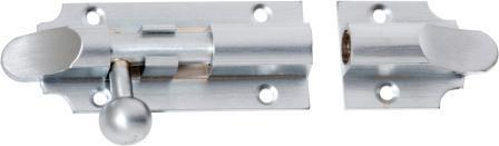 Tradco 'BARREL BOLT' Satin Chrome 2960 75mm x 32mm