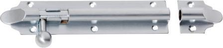 Tradco 'BARREL BOLT' Satin Chrome 2962 150mm x 32mm