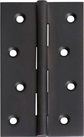 Tradco 'HINGE - FIXED PIN' Matt Black 2972 100mm x 60mm