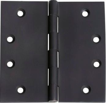 Tradco 'HINGE - FIXED PIN' Matt Black 2974 100mm x 100mm