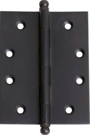 Tradco 'HINGE - LOOSE PIN' Matt Black 2978 100mm x 75mm