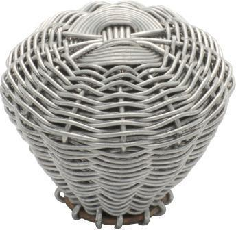 Tradco 'WIRE' CUPBOARD KNOB Silver 35mm 3017