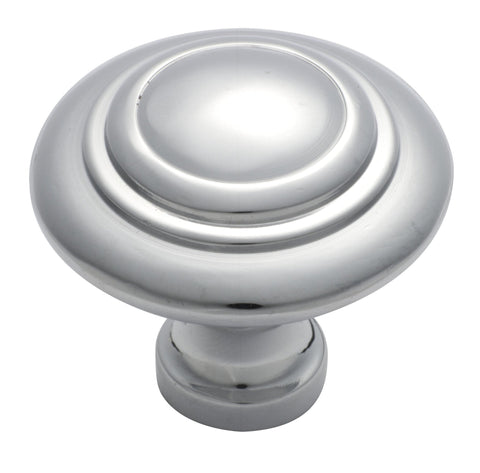Tradco 'CAST BRASS' CUPBOARD KNOB Domed Chrome Plate 38mm 3055