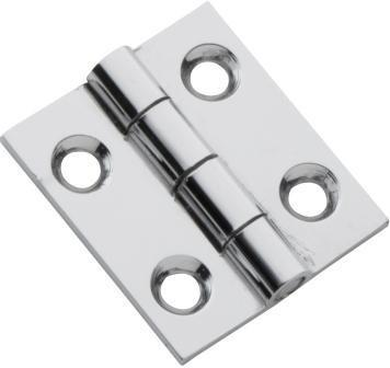 Tradco 'FIXED PIN CABINET HINGE' Chrome Plate 25 x 22mm 3110