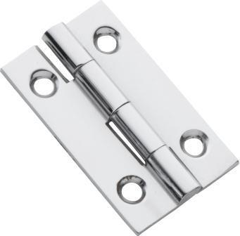Tradco 'FIXED PIN CABINET HINGE' Chrome Plate 38 x 22mm 3111