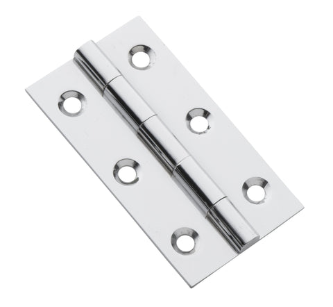 Tradco 'FIXED PIN CABINET HINGE' Chrome Plate H63 x W35mm 3113