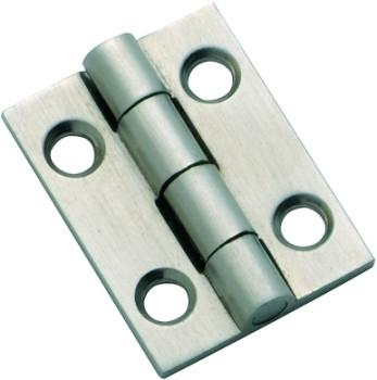 Tradco 'FIXED PIN CABINET HINGE' Satin Chrome H25 x W22mm 3120