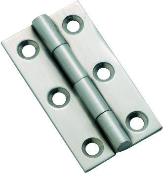 Tradco 'FIXED PIN CABINET HINGE' Satin Chrome 50 x 28mm 3122