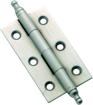 Tradco 'FIXED PIN FINIAL HINGE' Satin Chrome H50 x W28mm 3125