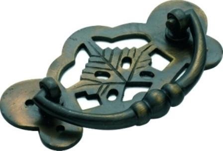 Tradco 'CABINET HANDLE' Antique Brass 88 x 45mm 3205