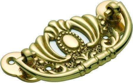 Tradco 'CABINET HANDLE' Polished Brass 83 x 42mm 3401