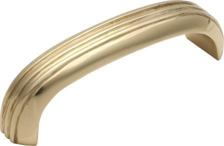Tradco 'DECO' PULL HANDLE Polished Brass 85 x 20mm 3447