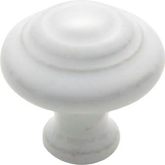 Tradco 'PORCELAIN' DOMED CUPBOARD KNOB White 38mm 3476