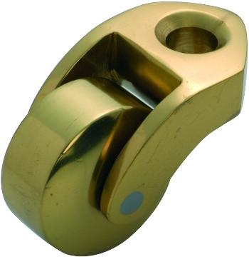 Tradco 'BED CASTOR' BRASS WHEEL Polished Brass 38mm 3542