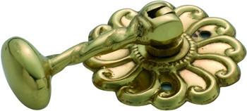 Tradco 'ROPE TEARDROP' CABINET HANDLE Polished Brass 50mm 3590