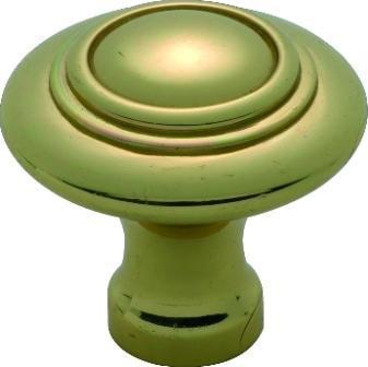 Tradco 'CAST BRASS' CUPBOARD KNOB Domed Polished Brass 38mm 3663