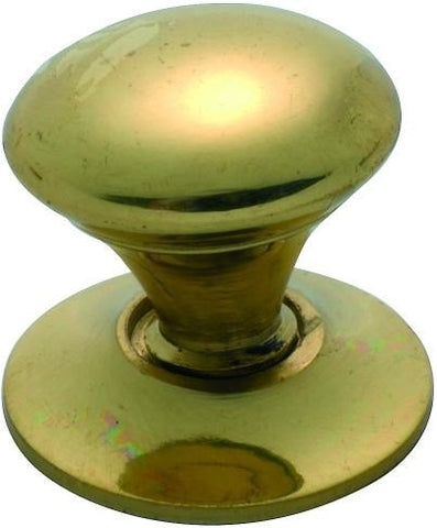 Tradco 'VICTORIAN' CUPBOARD KNOB Polished Brass 19mm 3665