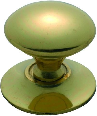Tradco 'VICTORIAN' CUPBOARD KNOB Polished Brass 25mm 3666