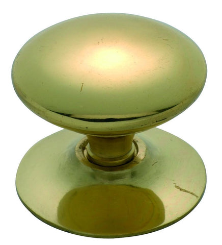 Tradco 'VICTORIAN' CUPBOARD KNOB Polished Brass 38mm 3668