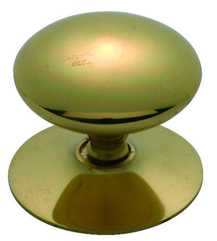 Tradco 'VICTORIAN' CUPBOARD KNOB Polished Brass 50mm 3669