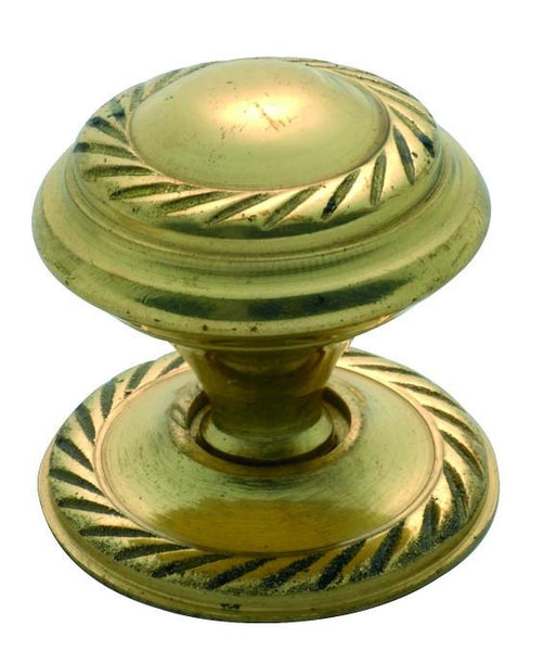 Tradco 'GEORGIAN' CUPBOARD KNOB Polished Brass 25mm 3671