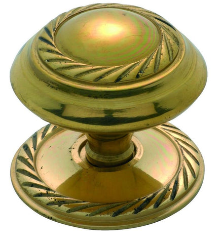 Tradco 'GEORGIAN' CUPBOARD KNOB Polished Brass 38mm 3673