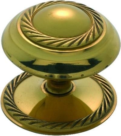 Tradco 'GEORGIAN' CUPBOARD KNOB Polished Brass 50mm 3674