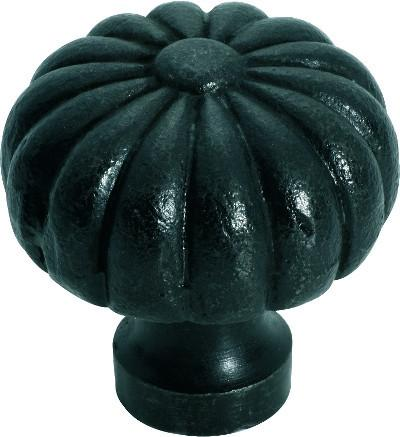 Tradco 'IRON' CUPBOARD KNOB Fluted Antique Finish 38mm 3702