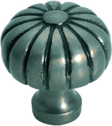 Tradco 'IRON' CUPBOARD KNOB Fluted Polished Metal 38mm 3707