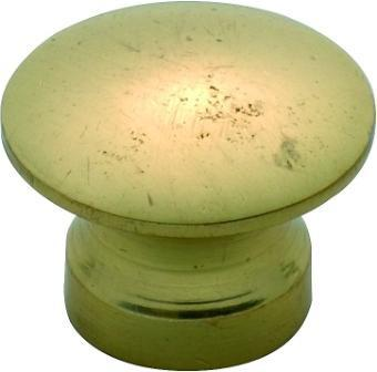 Tradco 'VICTORIAN' CUPBOARD KNOB Solid Polished Brass 13mm 3710