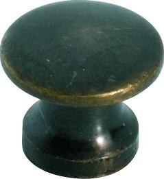 Tradco 'SOLID' CUPBOARD KNOB Antique Brass 13mm 3715