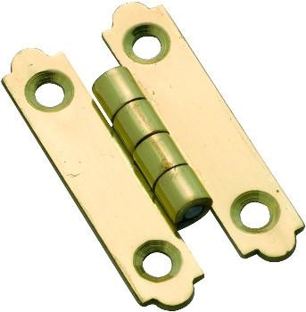 Tradco 'H' CABINET HINGE Polished Brass 30 x 53mm 3722