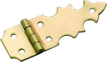 Tradco 'BOX HINGE' (PAIR) Polished Brass 45 x 16mm 3723