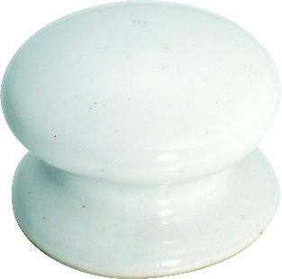 Tradco 'PORCELAIN' CUPBOARD KNOB White 32mm 3730
