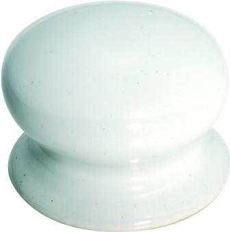 Tradco 'PORCELAIN' CUPBOARD KNOB White 38mm 3731